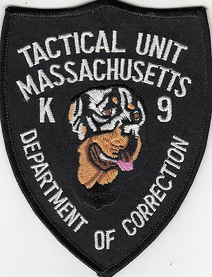 Massachusetts Department Of Corrections Tactical Unit K9 Patch Ma Dog Canine Doc
