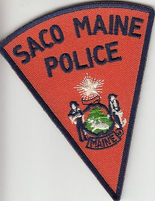 Saco Maine Me Police Shoulder Pie Shape Patch