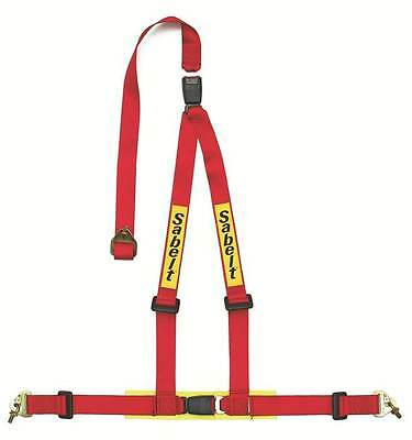 "Sabelt Clubman 3 Point 2"" Double Release Race / Road Harness ECE Approved Red"