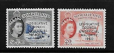 Somaliland 1960 changes in legislative council QE overprinted MNH A237