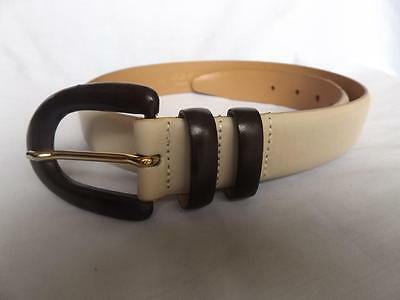 Women's Leather Belt By Jaeger Waist 26-31 Inches