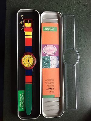 VINTAGE UNITED COLORS OF BENETTON CAMEL Color block  90s Watch NEW