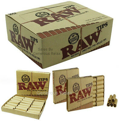 1 2 3 5 10 RAW Pre Rolled Cone Tips Rolling Classic Cigarette Smoking Paper Tips