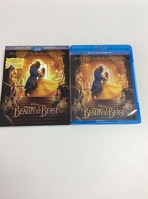 Beauty and the Beast 2017 Blu Ray+Digital HD Only! No DVD Included! Please Read
