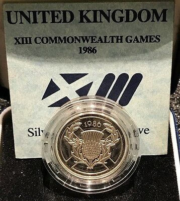 Great Britain 2 Pounds 1986 Proof Silver - Elizabeth II - Commonwealth Games