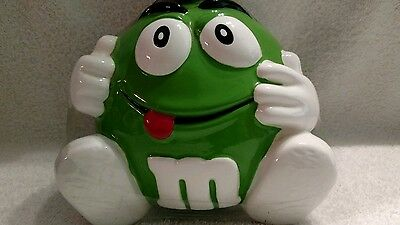 M&M's Green Minis Ceramic Candy Jar With Hands & Feet