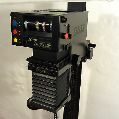 Darkroom enlarger with intergated colour analyser - Durst AC 707 Autocolour