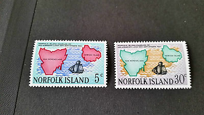 Norfolk Island 1969 Sg 100-101 125Th Anniv Of Annexation Mnh