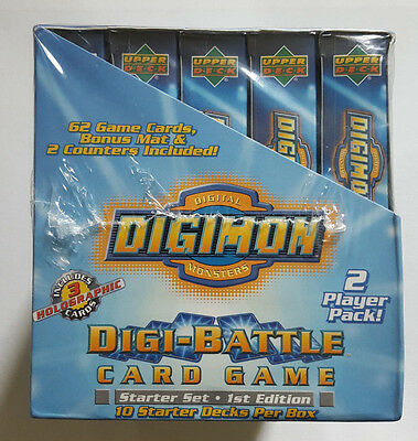 Digimon DIGI-BATTLE Sealed Box of 10 Two Player Starter Decks First Edition!!!