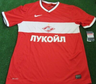 Nike Spartak Moscow Mens Home Football Shirt Red & White BNWT Large Mens