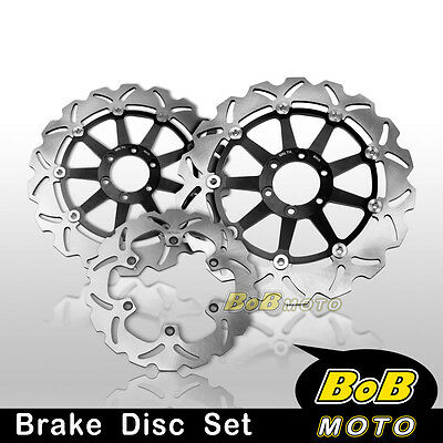 New Front + Rear Brake Disc x3 For Yamaha FZR 1000 Genesis EX UP 87 88 89-95