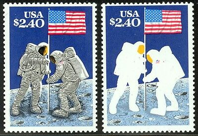 2419a - $2.40 Moon Landing - Engraved Black Omitted - NH