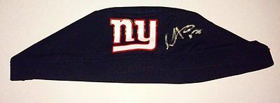 NFL team New York Giants Dwayne Harris signed Game Used Hair Cap with LOA