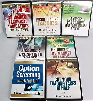 Trade Secrets DVDs Lot of 7 Stocks Micro Trading Market Wizard Option Screening