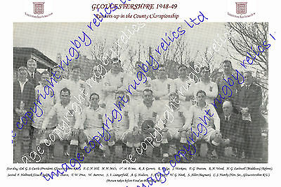 Gloucestershire – County Championship Runners-Up 1948-49 Rugby Team Photograph