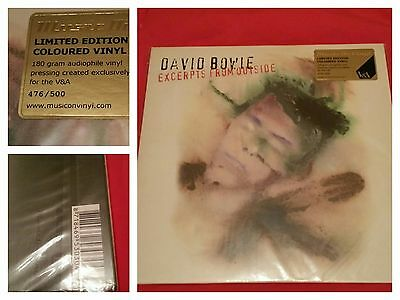 David Bowie EXCERPTS FROM OUTSIDE green vinyl V&A 2013 #476/500 very rare SEALED