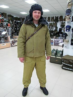 Genuine Russian Soviet Army Winter Uniform Suit for Tankman Afghanka. New!