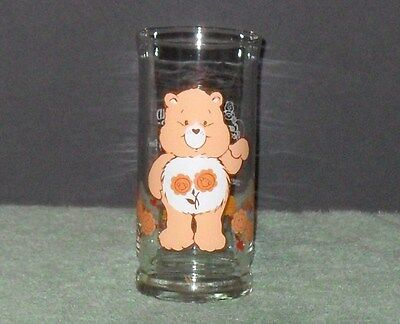 1983 Care Bear-Friend Bear Promo Glass,pizza Hut Limited Edition**excellent Cond