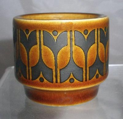 Hornsea Pottery Heirloom Pattern Egg Cup Glazed in Autumn Brown