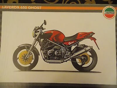 LAVERDA GHOST 650 ADVERTISING BROCHURE LATE 90s RARE