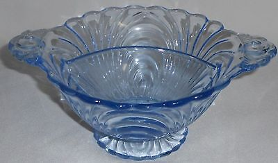 Cambridge Glass BLUE CAPRICE PATTERN Divided Two Part CANDY DISH