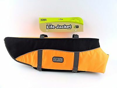 Outward Hound Life Jacket Life Preserver Orange Black XL X-Large 70 - 90 lbs NEW