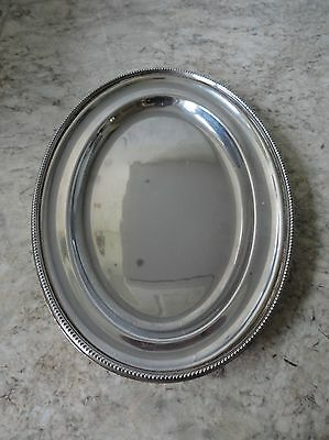Vintage Oval Silver Plated ? Thomas Wilkinson ? Serving / Business Card Tray