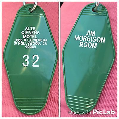 Jim Morrison of THE DOORS Motel Room Key Chain Rock and Roll Southern California