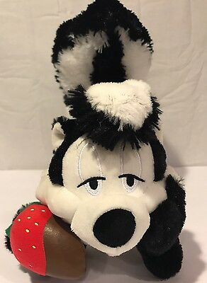 "Hallmark Talking Pepe Le Pew Plush 12""  Black White Skunk Looney Tunes Stuffed"