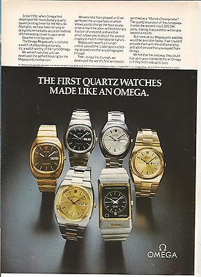 new yorker 1973 omega  marine  6 different    watch      PRINT AD