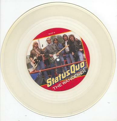 "Status Quo - The Wanderer - 12"" Vinyl Single (Clear Vinyl / Pic Disc)"