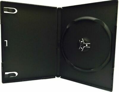 25 New Single Black DVD CD Cases, Standard 14mm, hold 1 Disc, 4s