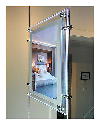 Clear Acrylic Backlit Illuminated LED Poster Frame (Double-Side - 12 in x 16 in)