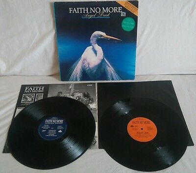 """Faith No More ~ Angel Dust LP + 12"""" 1992 C/W inners EX/EX/VG+ see all pics"""
