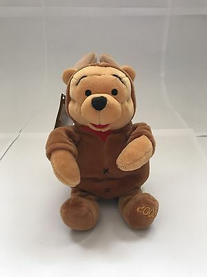 """Bnwt Rare Disney Store Winnie The Pooh In Reindeer Costume 2000 Collectable 8"""""""