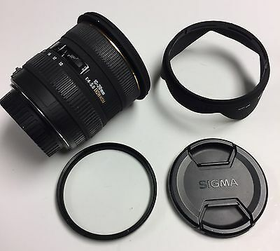 Sigma 10-20mm F4-5.6 DC HSM Ex++  Condition with hood perfect optic Canon EF