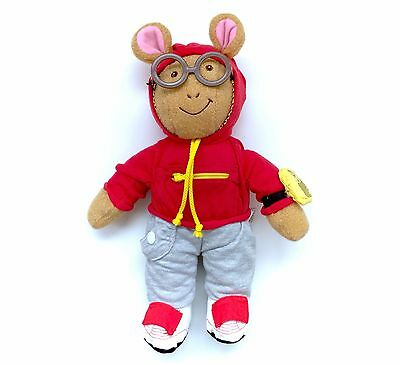 1996 Arthur Red Jogging Suit Playskool Plush Doll Outfit Sweats Running COMPLETE