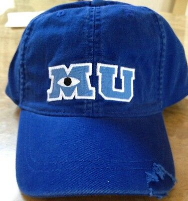 Disney Parks Monsters University Mike Wazowski Adult Baseball Cap Hat NEW MU M U