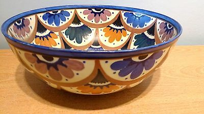 """Carlton Ware Handcraft """"Floral Scallops"""" 23.5cm Hand Painted Bowl. #3234. VGC"""