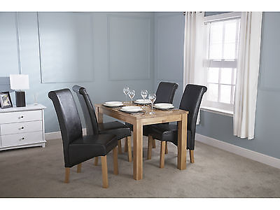 Charter Solid Oak Dining Table 4ft - Butchers Block Top Design - 4 to 6 Seater