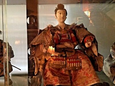 Japanese Warrior Doll And Hinchman* Edo Period *  Kyoto Japan* Local Pickup Only