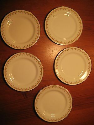VINTAGE LIMOGES ELITE WORKS 5 SIDE PLATES BAWO & DOTTER SHAMROCKS & ROSES c1920s