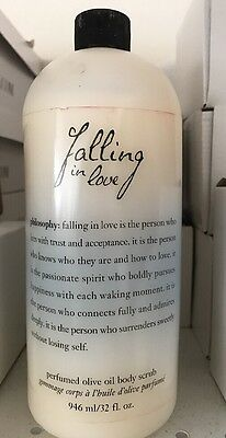 PHILOSOPHY Falling in Love Perfumed Olive Oil Body Scrub 32 oz. NEW SEALED