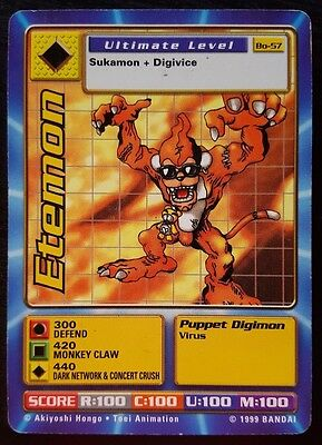 ETEMON Bo-57 - Ultimate Level Digimon card - EXC
