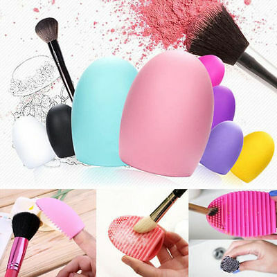 Makeup Brush Cleaner Glove Egg Silicone Scrubber Foundation Cosmetic Cleaning