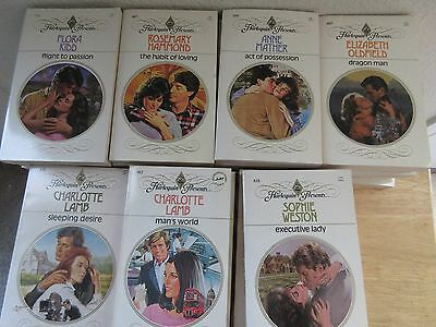 Lot of 58 Harlequin Presents Romance Novels Vintage 1984-85 Plus Newsletters