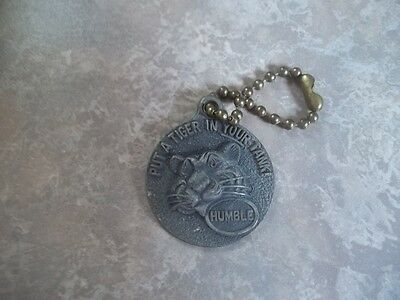 Vintage ADVERTISING HUMBLE TIGER ESSO ENCO MOTOR HOME KEY FOB CHAIN ESTATE FIND