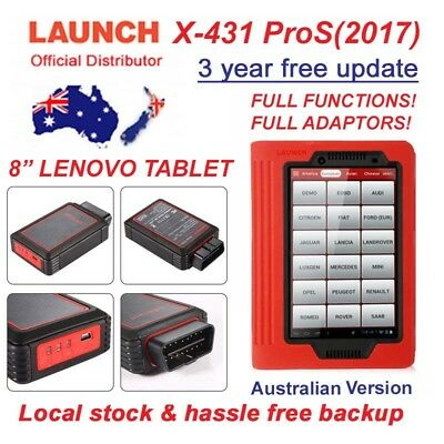 LAUNCH X-431 ProS - 3 YEAR FREE UPDATE, Official Australian Package, NOT X-431V