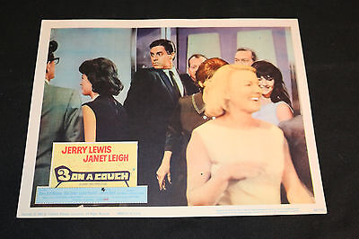 1966 Three on a Couch Lobby Card 66/187 Jerry Lewis Janet Leigh (C-7)