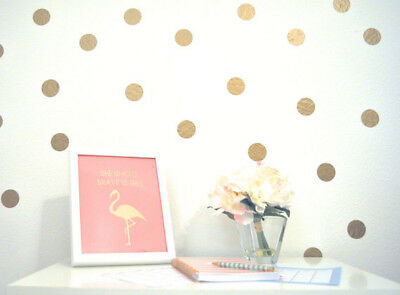 150 Polka Dots Gold Vinyl Triangle Wall Decals Circle Stickers Nursery Room